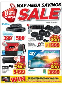 HiFi Corp : May Mega Savings Sale (25 May - 31 May 2017), page 1