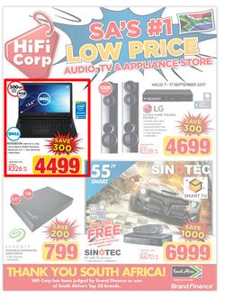 HiFi Corp : SA's #1 Low Price (7 Sep - 17 Sep 2017), page 1