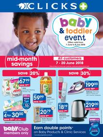 Clicks : Baby and Toddler (7 June - 8 July 2018), page 1