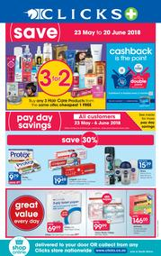 Clicks : You Pay Less (23 May - 20 June 2018), page 1