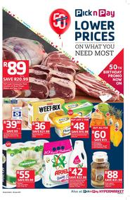 Pick n Pay Eastern Cape : Lower Prices On What You Need Most (06 Jun - 18 Jun 2017), page 1