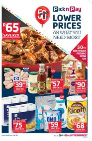 Pick n Pay Eastern Cape : Lower Prices On What You Need Most (20 Jun - 02 Jul 2017), page 1