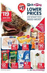 Pick n Pay Eastern Cape : Lower Prices On What You Need Most (25 Jul - 06 Aug 2017), page 1