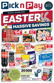 Pick n Pay Eastern Cape : Easter Massive Savings (15 Apr - 22 Apr 2019), page 1