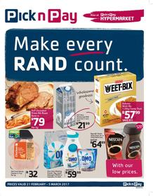 Pick n Pay Inland : Make Every Rand Count (21 Feb - 5 Mar 2017), page 1