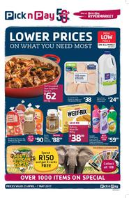 Pick n Pay : Lower Prices On What You Need Most (25 Apr - 07 May 2017), page 1