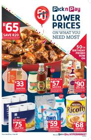 Pick n Pay : Lower Prices On What You Need Most (20 Jun - 02 Jul 2017), page 1