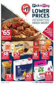 Pick n Pay : Lower Prices On What You Need Most (11 Jul - 23 Jul 2017), page 1