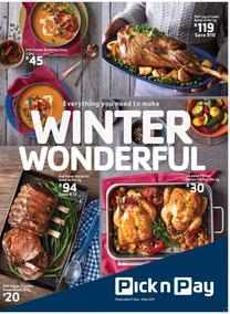 Pick n Pay : Winter Wonderful Deals (27 Jun - 09 Jul 2017), page 1