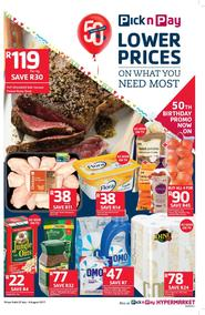 Pick n Pay : Lower Prices On What You Need Most (25 Jul - 06 Aug 2017), page 1