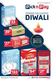 Pick n Pay : Wishing You A Joyous Diwali (10 Oct - 22 Oct 2017), page 1