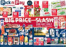 Pick n Pay : Big Price Slash (22 Sep Only 2017), page 1