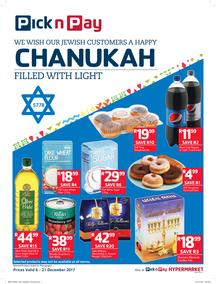 Pick n Pay : We Wish Our Jewish Customers A Happy Chanukah (06 Dec - 21 Dec 2017), page 1