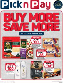 Pick n Pay : Buy More, Save More (05 Nov - 18 Nov 2018), page 1