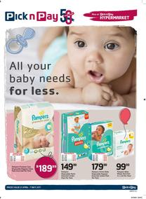 Pick n Pay : All Your Baby Needs For Less (25 Apr - 07 May 2017), page 1