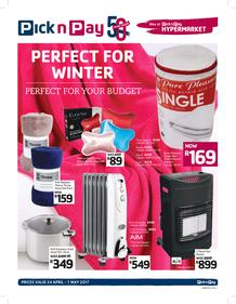 Pick n Pay : Perfect For Winter And Your Budget (24 Apr - 07 May 2017) , page 1