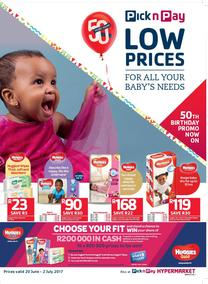 Pick n Pay : Lower Prices For All Your Baby's Needs (20 Jun - 02 Jul 2017), page 1