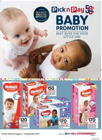Pick n Pay : Best Buys For Your Little One (22 Aug - 03 Sep 2017), page 1
