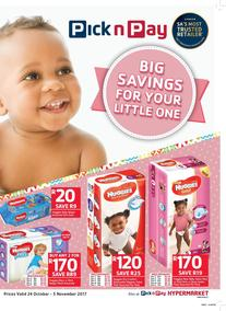 Pick n Pay : Big Savings For Your Little One (24 Oct - 05 Nov 2017), page 1
