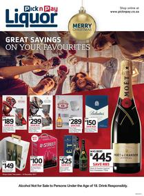 Pick n Pay : Great Savings On All Your Favourites (07 Nov - 10 Dec 2017), page 1