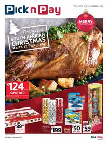Pick n Pay : The Great South African Christmas Starts (07 Nov - 26 Nov 2017), page 1