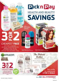 Pick n Pay : Health And Beauty Savings (21 Nov - 03 Dec 2017), page 1