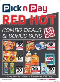 Pick n Pay : Combo Deals And Bonus Buys (24 Oct - 05 Nov 2017), page 1