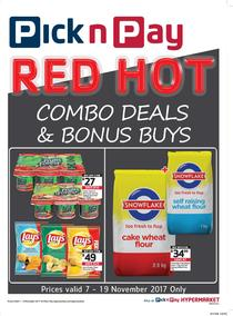 Pick n Pay : Red Hot Combo Deals And Bonus Buys (07 Nov - 19 Nov 2017), page 1