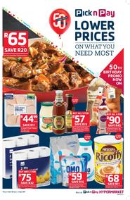 Pick n Pay Western Cape : Lower Prices On What You Need Most (20 Jun - 02 Jul 2017), page 1