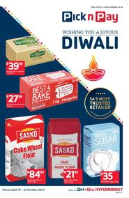 Pick n Pay Western Cape : Wishing You A Joyous Diwali (10 Oct - 22 Oct 2017), page 1