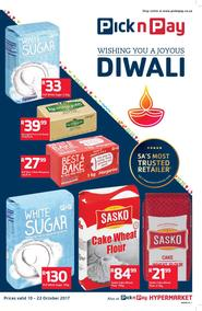 Pick n Pay KZN  : Wishing You A Joyous Diwali (10 Oct - 22 Oct 2017), page 1
