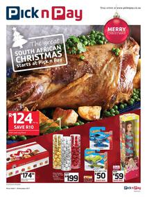 Pick n Pay KZN : The Great South African Christmas Starts (07 Nov - 26 Nov 2017), page 1