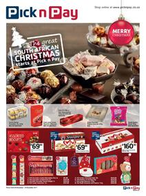 Pick n Pay KZN : The Great South African Christmas Starts (28 Nov - 24 Dec 2017), page 1