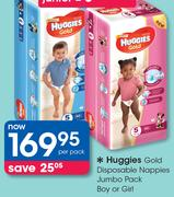 Huggies Gold Disposable Nappies Jumbo Pack Boy Or Girl-Per Pack