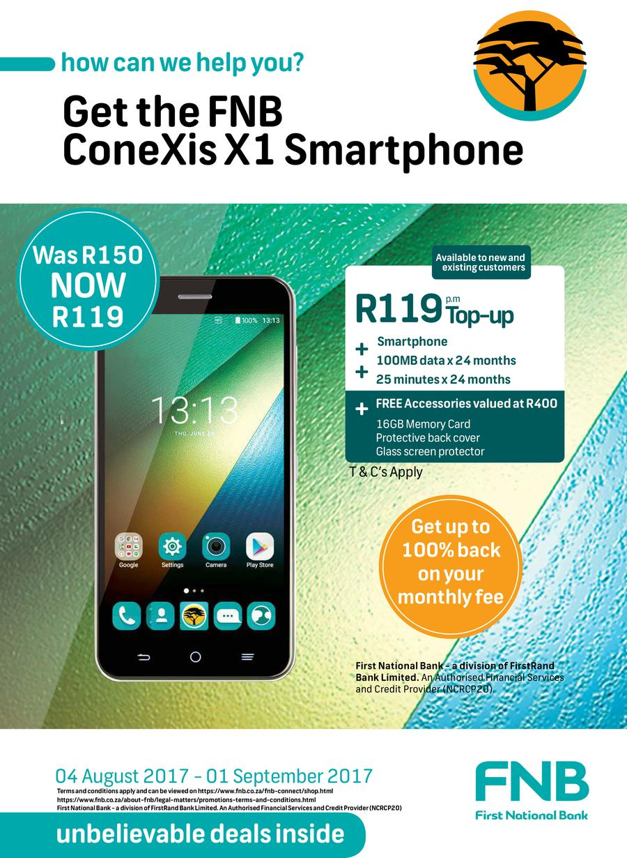 FNB Connect : Unbelievable Deal (4 Aug - 1 Sep 2017)