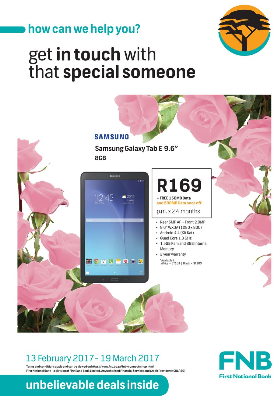 FNB : Unbelievable Deals (13 Feb - 19 Mar 2017)