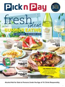 Pick n Pay : Fresh Ideas With Summer Eating (05 Nov - 02 Dec 2018), page 1