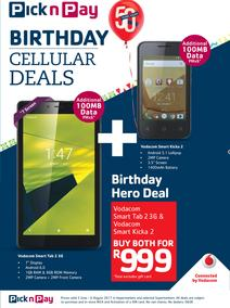 Pick n Pay : Birthday Cellular Deals (05 Jun - 06 Aug 2017), page 1