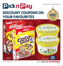 Pick n Pay KZN : Discount Coupons On Your Favourites (05 Dec - 26 Dec 2017), page 1