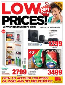 HiFi Corp : Low Prices (22 Aug - 28 Aug 2016), page 1