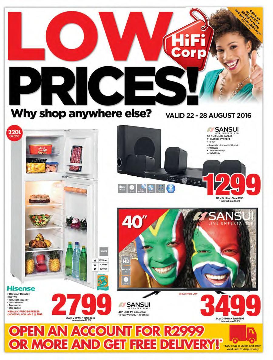 HiFi Corp : Low Prices (22 Aug - 28 Aug 2016)