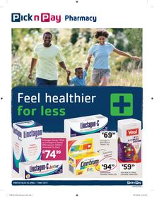 Pick n Pay : Feel Healthier For Less (25 Apr - 07 May 2017)  , page 1