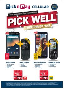 Pick n Pay : Cellular Deals (12 Nov - 06 Jan 2019), page 1