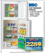 KIC Top Freezer Fridge (KTF523WH)-223L
