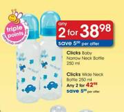 Clicks Baby Narrow Neck Bottle-2x250ml