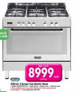DeLonghi 5 Burner Gas Electric Stove-900mm