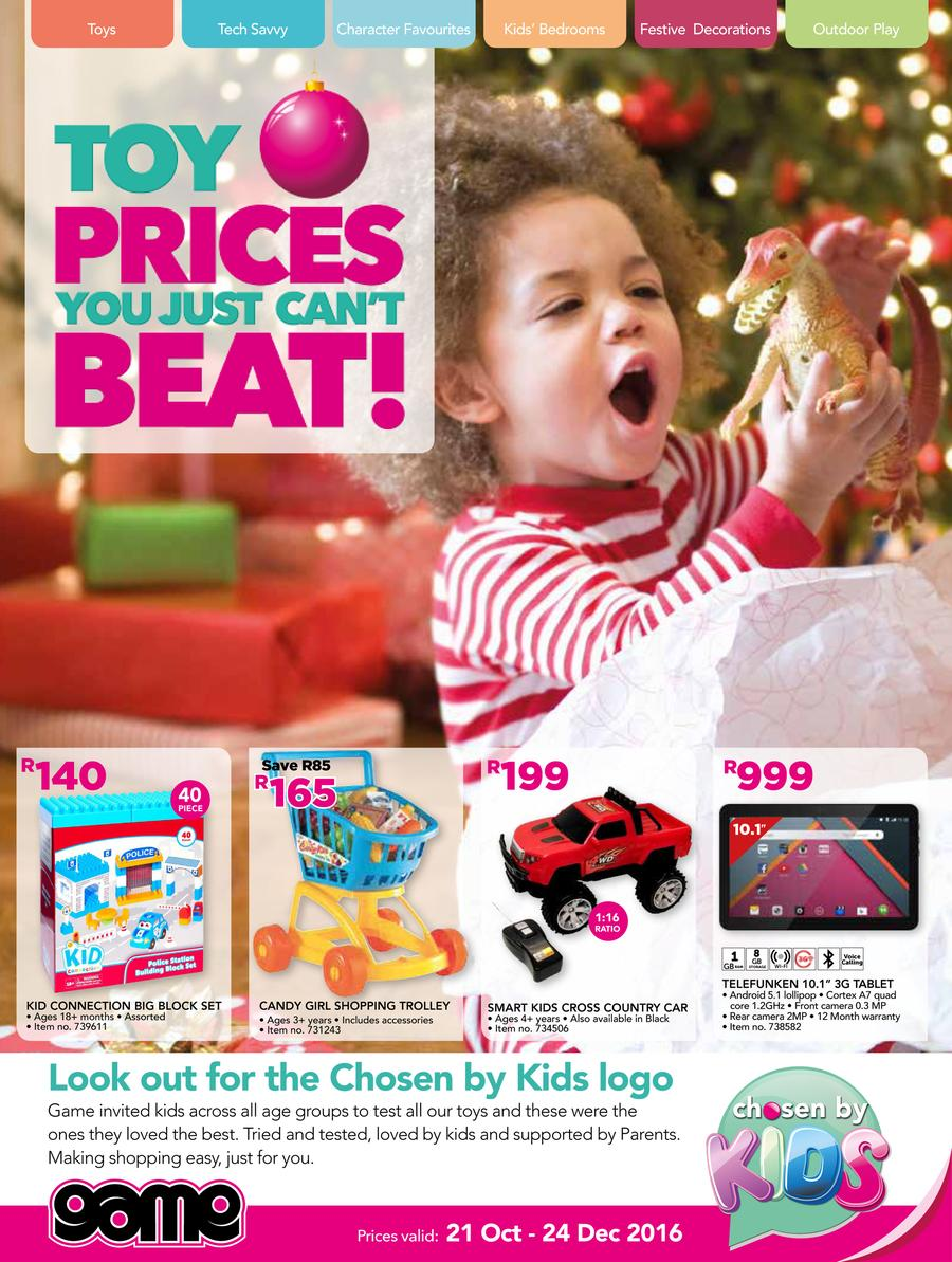 Game : Toy Prices You Just Can't Beat (21 Oct - 24 Dec 2016)