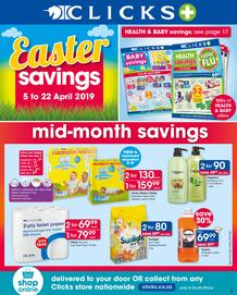Clicks : Easter Savings (5 Apr - 22 Apr 2019), page 1