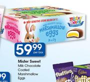 Mister Sweet Milk Chocolate Coated Marshmallow Eggs-Per Box