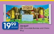 Jacquot Milk Chocolate Bunnies & Chicks-50g Per Pack